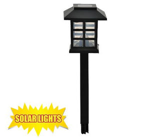 avenusa - Solar Powered Garden Lantern with Spike for Garden Lighting - avenu.co.za - Tools & Home Improvement, Garden