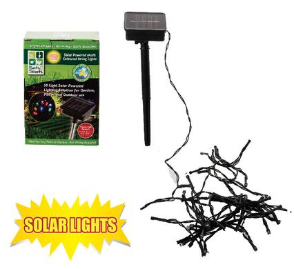 avenusa - Solar Powered String Garden Lights - Fairy Indoors, Outdoors - 50 Multicoloured Lights - avenu.co.za - Tools & Home Improvement, Garden