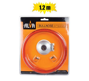 Alva Gas Regulator Bullnose with 1.2m Hose, Blister Pack