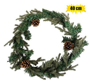 Christmas Pine Wreath 40cm