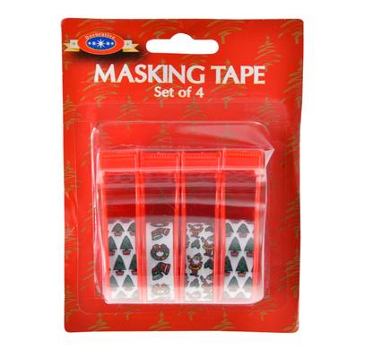 Christmas Stationery Masking 4 Tape Pack