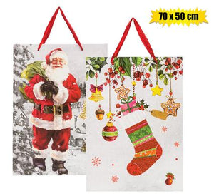 Xmas Stationery Gift Bag 2x Giant 70X50cm