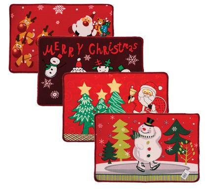 Christmas Design Door Mat 58x38cm - 4 Pack
