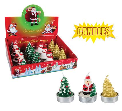 Christmas Tea Light Candles Box Set - 12 Candles