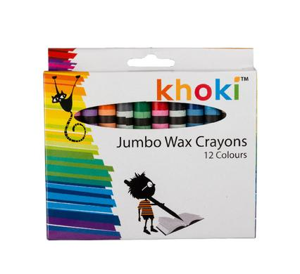 avenusa - Wax Crayons Khoki Jumbo Set Of 12 - avenu.co.za - Arts & Crafts