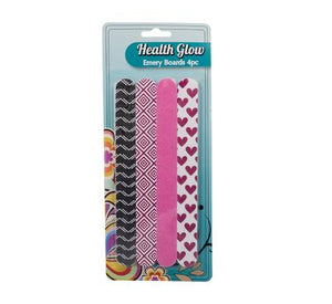 avenusa - Health Glow Emery Nail File 4pc Set for Women and Girls - avenu.co.za - Health & Beauty