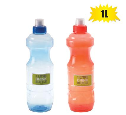 Sports 1L Water Bottle Leak Proof Drink Spout