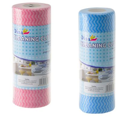 avenusa - Disa Cleaning Cloth Roll 30pc 50x22cm BLUE/PINK - avenu.co.za - Home & Decor