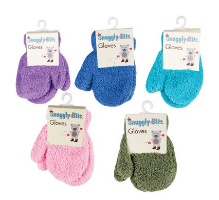 Snuggly Bits Cute Toddler Mittens For Boys & Girls, Comfy Snug Fit