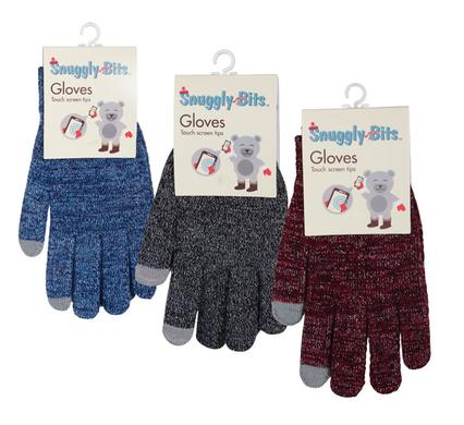 Snuggly Bits Women's Winter Knitted Gloves with Touchscreen Fingertips - Cozy Texting Gloves