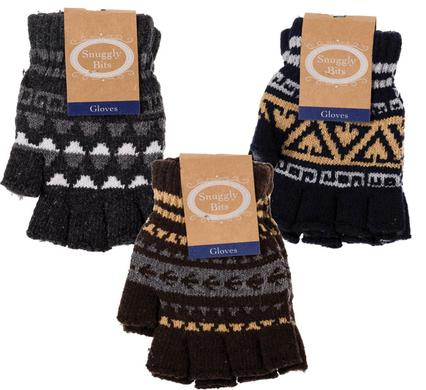 avenusa - Snuggly Bits Mens Warm Winter Fingerless Gloves Assorted Designs and Colours - avenu.co.za - Fashion