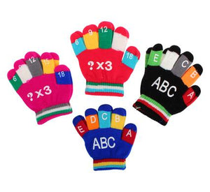 avenusa - Little Boys or Girls Winter Knitted Gloves Baby Letters/Numbers - avenu.co.za - Baby