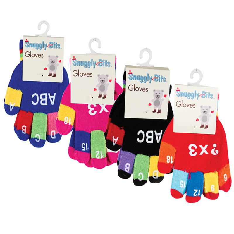 Little Boys or Girls Winter Knitted Gloves, Toddler Letters/Numbers