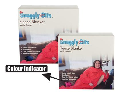 Snuggly Bits Deluxe Fleece Blanket with Sleeves for Adult, Men and Women. Elegant, Cozy & Warm