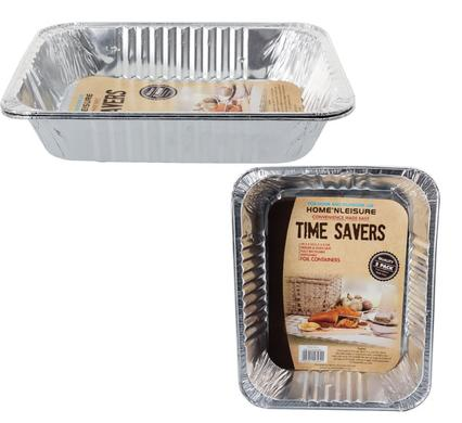 avenusa - Aluminium Foil Tray Set 29.5 x 23.5 x 5.5cm - 2pc - avenu.co.za - Home & Decor