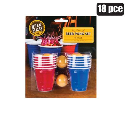 18pc Mini Beer Pong Set with Cups and Ping Pong Balls