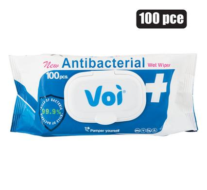 Voi Antibacterial Wet-Wipes 100pc, Pamper Yourself