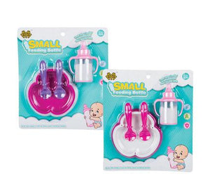 avenusa - Doll Accessories, Small Feeding Bottle, Plate and Spoons - Baby Care Feeding Set - avenu.co.za - Baby