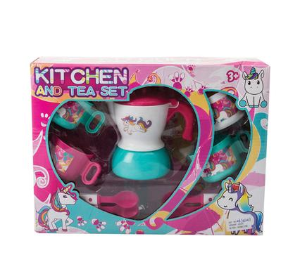 avenusa - Unicorn Kitchen & Tea Set, 9pc Toy Play Set - Teapot, Teacup, Teaspoon - avenu.co.za - Toys & Games