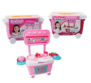 avenusa - Play-Set Wheely Storage Trolley, Doctor/Beauty Dresser - avenu.co.za - Toy & Games