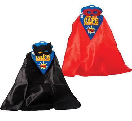 avenusa - Kids Dress Up Super Hero Cape & Eye Mask - avenu.co.za - Toys & Games