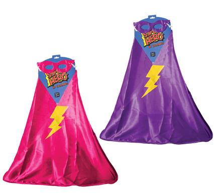 avenusa - Girls Super Hero Cape & Eye Mask, Fancy Dress - avenu.co.za - Toys & Games
