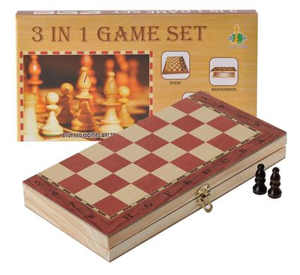 avenusa - Board Game 3 In 1 Chess - Checkers - Backgammon - avenu.co.za - Toys & Games