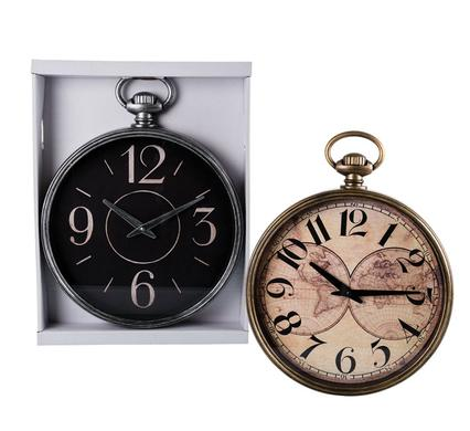 avenusa - Pocket Watch Design Quartz Round Wall Clock, 29cm - avenu.co.za - Home & Decor