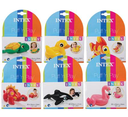 avenusa - Cute Puff and Play Inflatable Intex Water Toys - Assorted Designs- Fun in the Sun - avenu.co.za - Sports & Outdoors