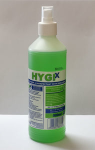 500ml HYGIX Hospital Grade 70% Alcohol Hand Sanitizer and Disinfectant with Emollient