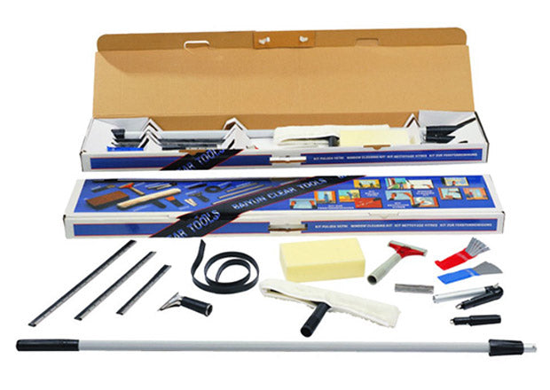 Professional Complete Econo Window Cleaning Kit, All in One Set