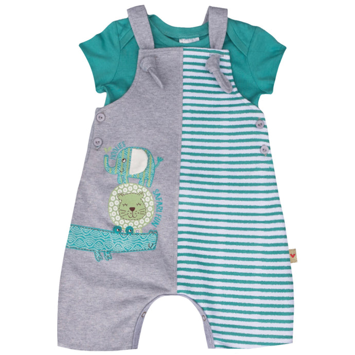 Croc And Friends Dungaree Set