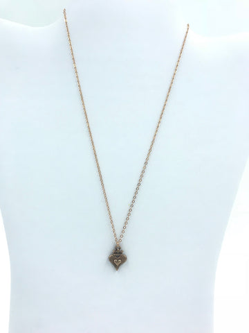 Rose Gold classic vintage heart and chain 18""