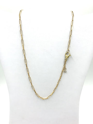 Paperclip gold chain necklace