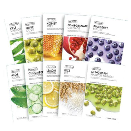Coffret Real Nature Face Mask (10 masques)