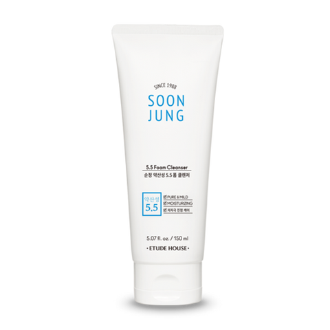 SOONJUNG pH5.5 Foam Cleanser / Mousse Nettoyante 150ml NEW (Pour La Peau Sensible)
