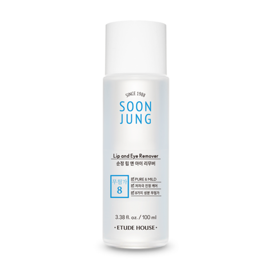 SOONJUNG Lip and Eye Remover 100ml NEW (Pour La Peau Sensible)