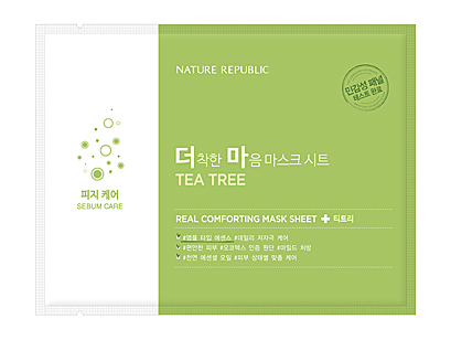 Real Comforting Mask Sheet - Arbre à thé (Sebum care)