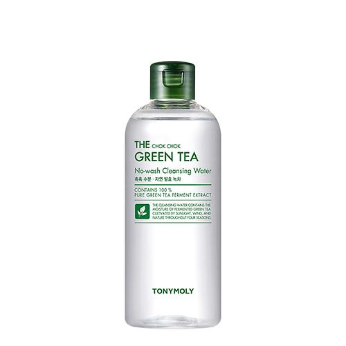 The Chok Chok Green Tea No-Wash Cleansing Water (Pour la peau sensible / Meilleure vente chez Tonymoly)