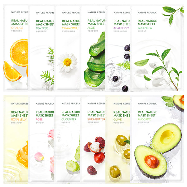 Coffret Real Nature Mask Sheet (12 masques)