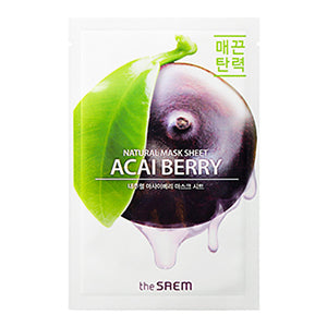 Natural Mask Sheet NEW - Acai Berry