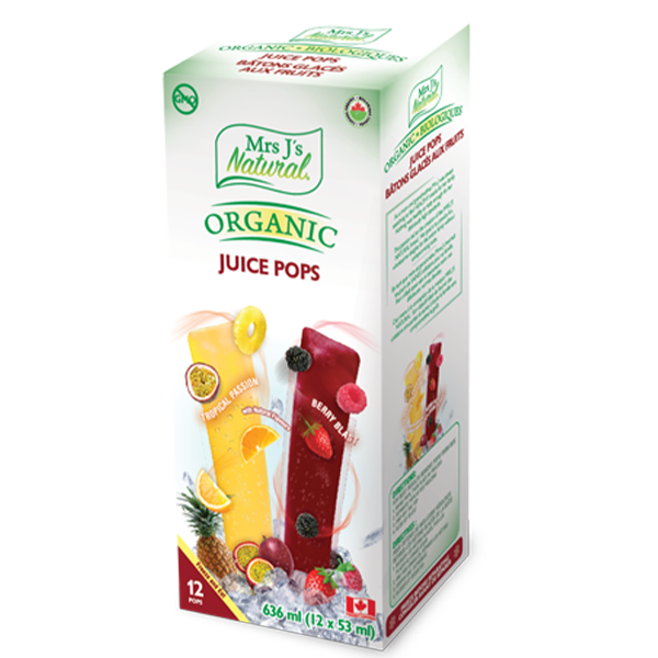 """MRS. J'S NATURAL"" ORGANIC JUICE POPS"