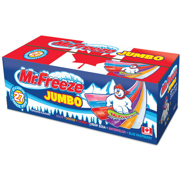 Mr. Freeze Jumbo Freeze Pops 27 x 150 ml