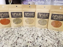 Load image into Gallery viewer, 5 Pack Wild Game Seasonings, Hand Mixed, Hand Packed small batch quality seasonings.