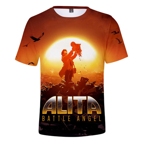 Alita T-Shirt - Battle Angel Graphic T-Shirt CSOS986 - cosplaysos