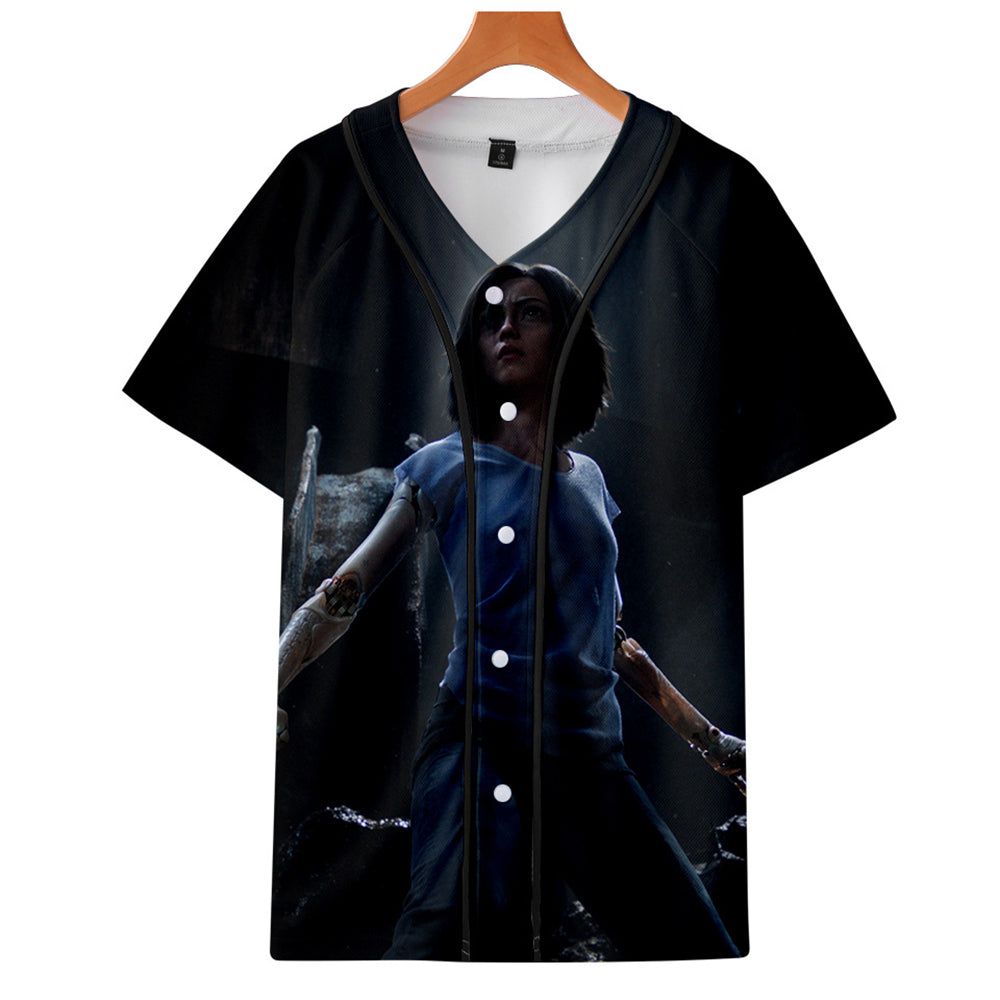 AlitaT-Shirt - Battle Angel Graphic Button Down T-Shirt CSOS991 - cosplaysos