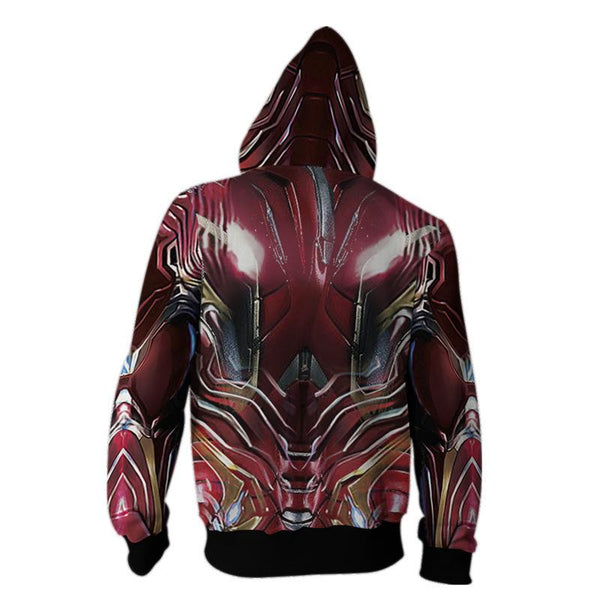 The Avengers Endgame Tony Stark Zip Up Hoodie CSP801 - cosplaysos