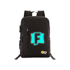 "Game Fortnite 17"" Teens Backpack - Blue Luminous CSSO096 - cosplaysos"