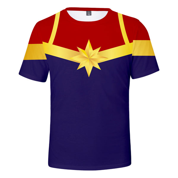 Captain Marvel T-Shirt - Carol Danvers Graphic T-Shirt CSOS925 - cosplaysos