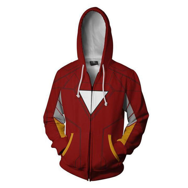 The Avengers Endgame Tony Stark Zip Up Hoodie CSP807 - cosplaysos